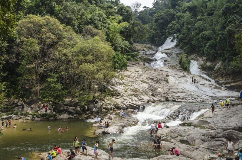 Καταρράκτης Chamang, Bentong, Μαλαισία στοκ φωτογραφίες με δικαίωμα ελεύθερης χρήσης