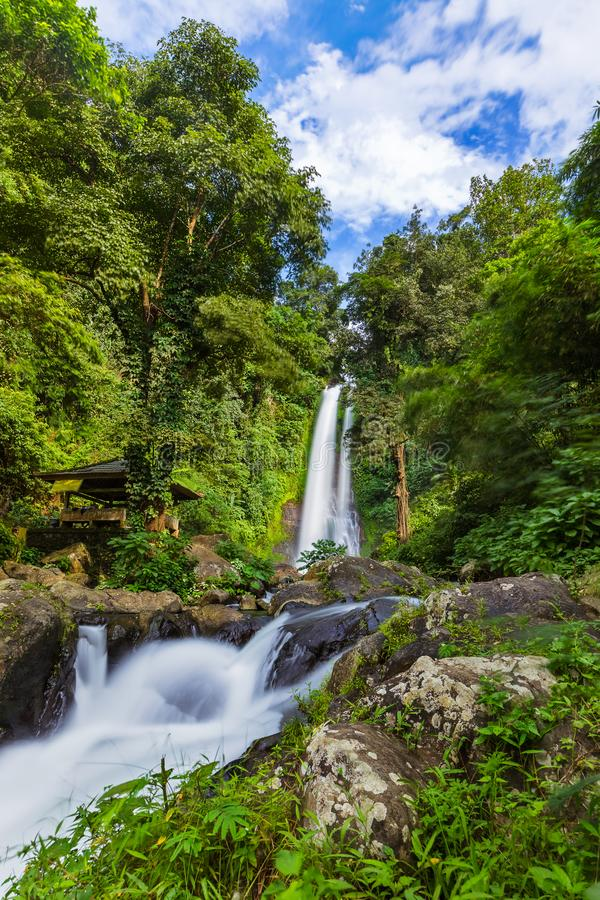 Καταρράκτης Gitgit - νησί Ινδονησία του Μπαλί στοκ φωτογραφίες
