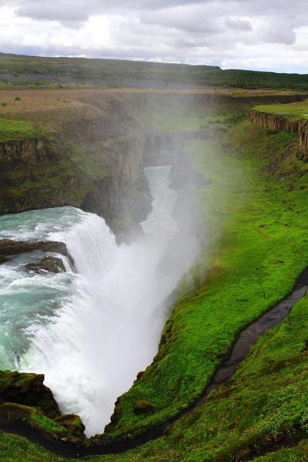 Καταρράκτης Gullfoss, Ισλανδία στοκ εικόνες