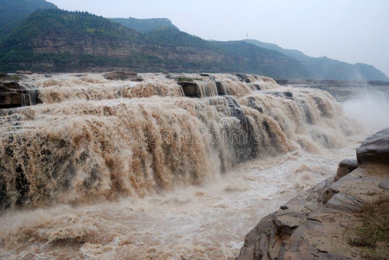 Καταρράκτης Hukou του κίτρινου ποταμού της Κίνας στοκ εικόνα με δικαίωμα ελεύθερης χρήσης