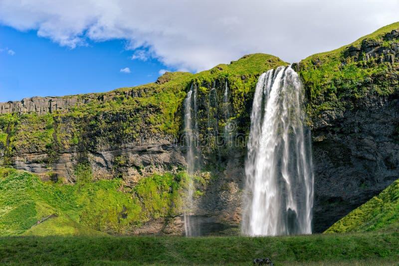 Καταρράκτης Seljalandsfoss, Ισλανδία στοκ εικόνες με δικαίωμα ελεύθερης χρήσης