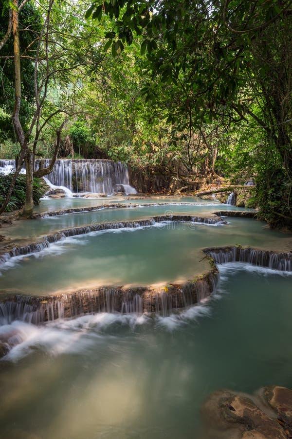Καταρράκτης Si Kuang στο Λάος στοκ φωτογραφία