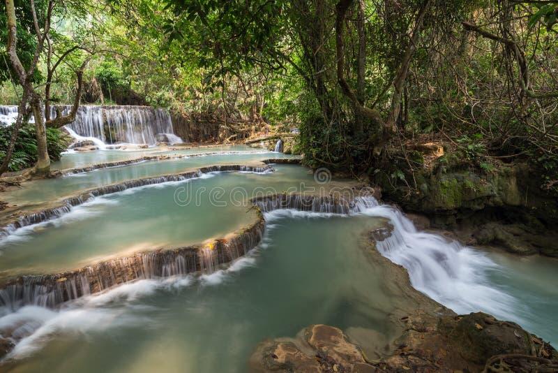 Καταρράκτης Si Kuang στο Λάος στοκ φωτογραφίες με δικαίωμα ελεύθερης χρήσης