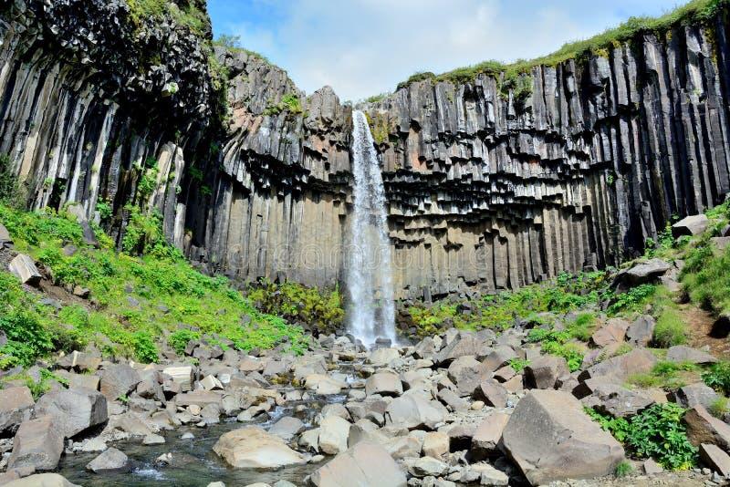 Καταρράκτης Svartifoss στην Ισλανδία στοκ φωτογραφία με δικαίωμα ελεύθερης χρήσης