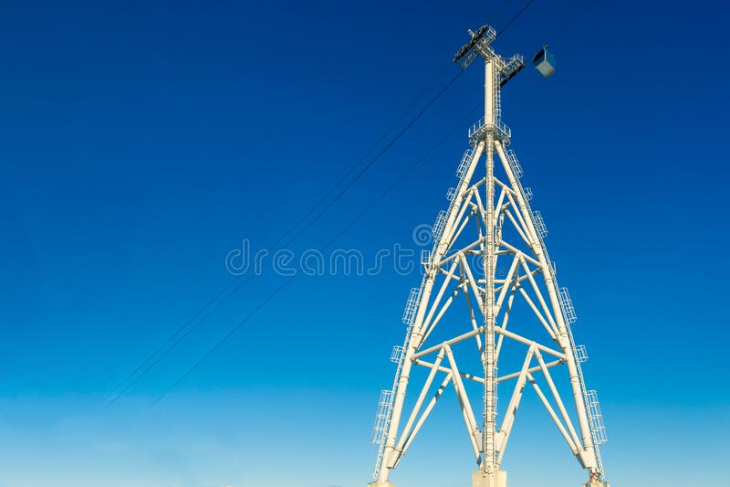 Κατασκευές των πύργων & cableways ανελκυστήρων στοκ φωτογραφίες με δικαίωμα ελεύθερης χρήσης