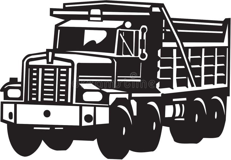 Κατασκευής απορρίψεων διανυσματική απεικόνιση εξοπλισμού φορτηγών βαριά απεικόνιση αποθεμάτων