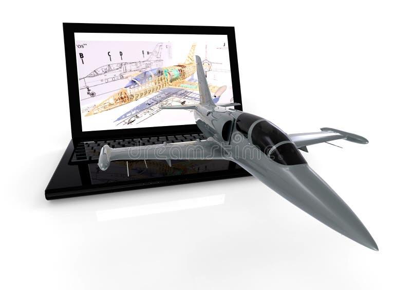 Κατασκευή αεροσκαφών διανυσματική απεικόνιση