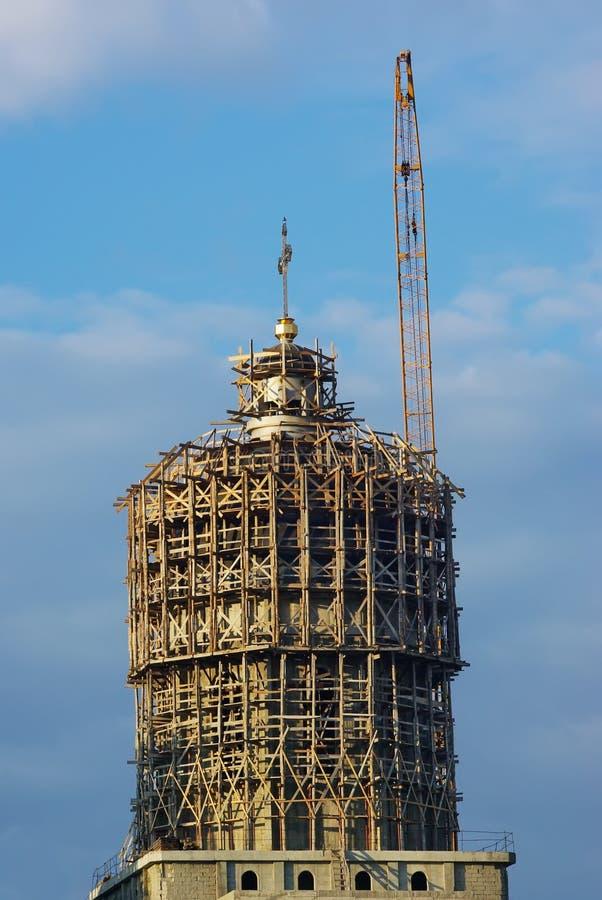 κατασκευή εκκλησιών στοκ φωτογραφία