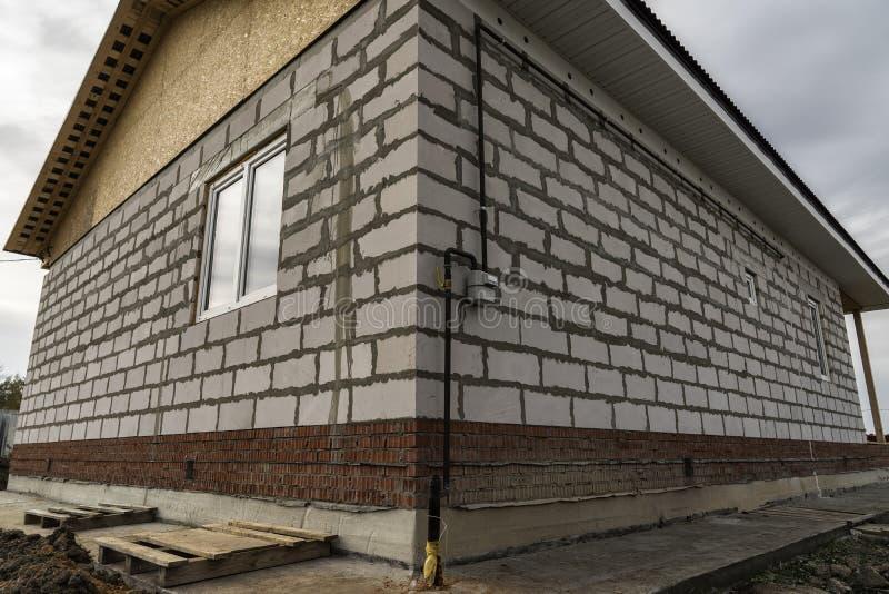 Κατασκευή ενός σπιτιού διαμερισμάτων στοκ φωτογραφίες
