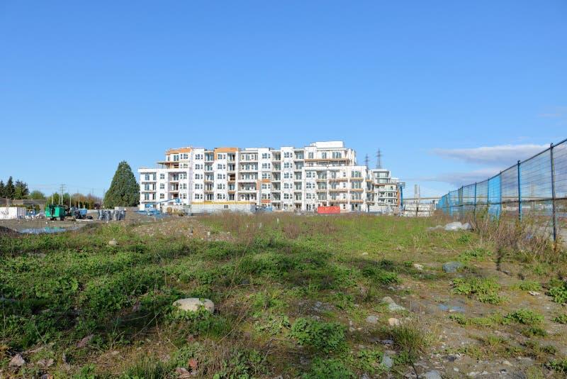 Κατασκευή και κενό έδαφος στο Βανκούβερ, Καναδάς στοκ εικόνες με δικαίωμα ελεύθερης χρήσης