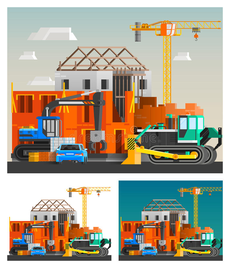 Κατασκευή και συνθέσεις μηχανών καθορισμένες ελεύθερη απεικόνιση δικαιώματος