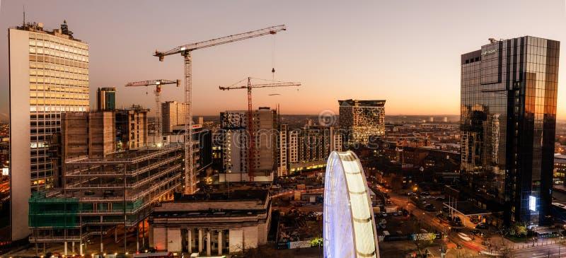 Κατασκευή πόλεων του Μπέρμιγχαμ στοκ εικόνα