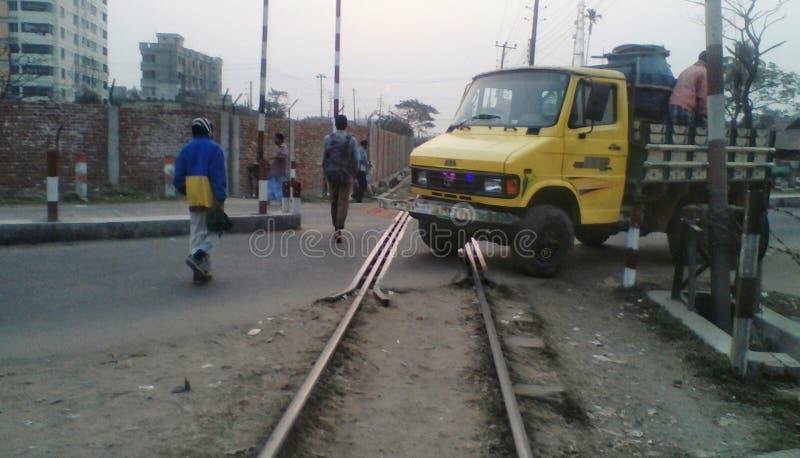 Κατασκευή σιδηροδρόμων στο Μπανγκλαντές στοκ φωτογραφία με δικαίωμα ελεύθερης χρήσης