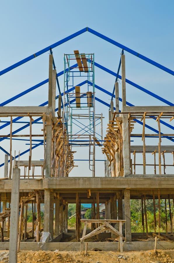 Κατασκευή σπιτιών στην ανάπτυξη στοκ φωτογραφία με δικαίωμα ελεύθερης χρήσης