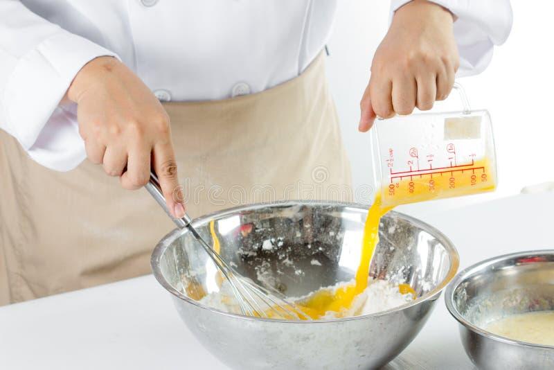 Κατασκευή του κέικ μπανανών στοκ φωτογραφία με δικαίωμα ελεύθερης χρήσης