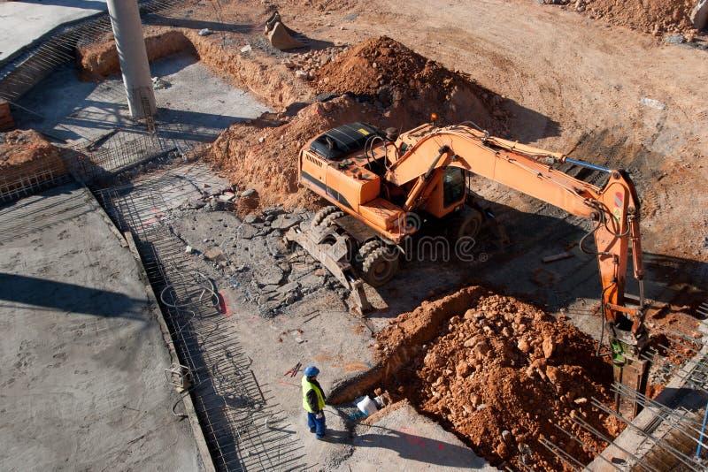 κατασκευή τούβλων που βάζει υπαίθρια την περιοχή στοκ φωτογραφίες με δικαίωμα ελεύθερης χρήσης