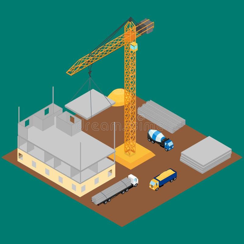 κατασκευή τούβλων που βάζει υπαίθρια την περιοχή απεικόνιση αποθεμάτων