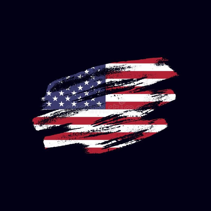Κατασκευασμένη ΑΜΕΡΙΚΑΝΙΚΗ σημαία Grunge στοκ φωτογραφία με δικαίωμα ελεύθερης χρήσης
