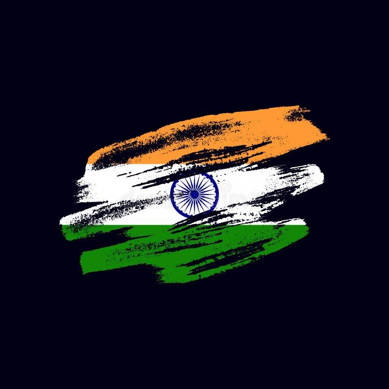 Κατασκευασμένη ινδική σημαία Grunge στοκ φωτογραφία με δικαίωμα ελεύθερης χρήσης