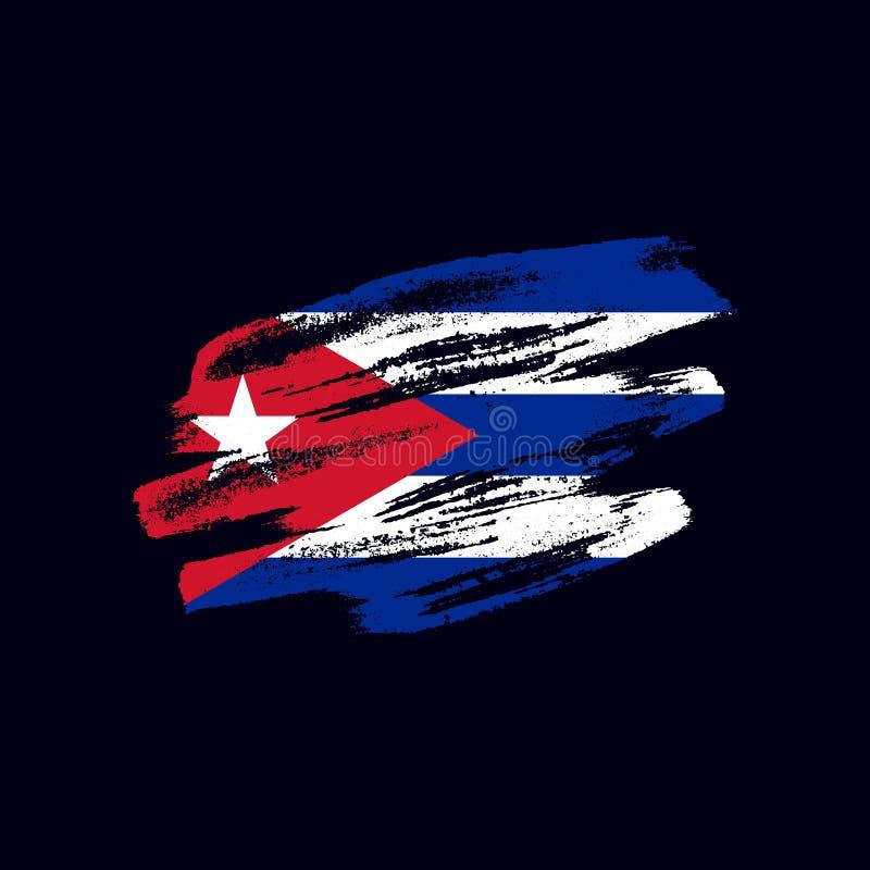 Κατασκευασμένη κουβανική σημαία Grunge ελεύθερη απεικόνιση δικαιώματος
