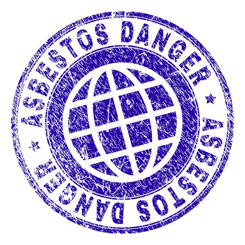 Κατασκευασμένη σφραγίδα γραμματοσήμων ΚΙΝΔΥΝΟΥ ΑΜΙΑΝΤΩΝ Grunge απεικόνιση αποθεμάτων