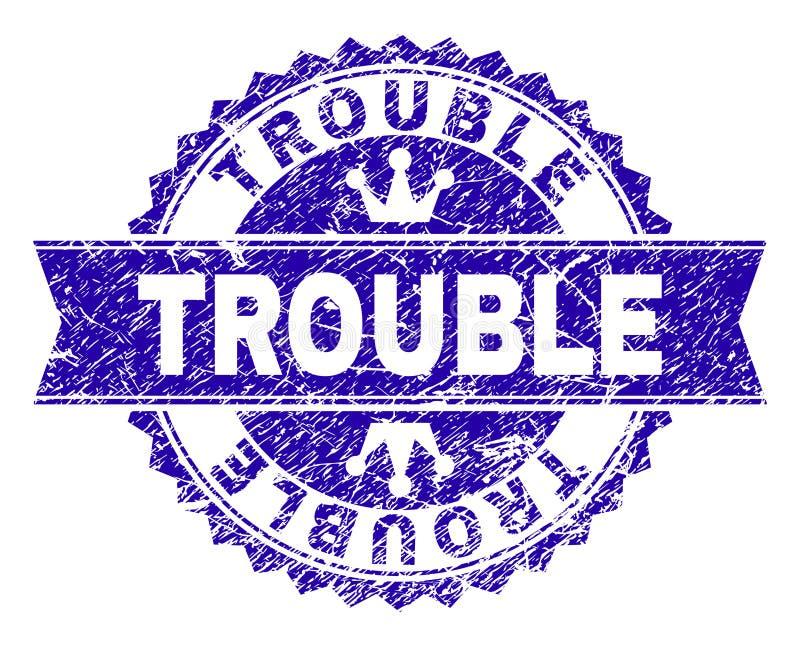 Κατασκευασμένη σφραγίδα γραμματοσήμων ΠΡΟΒΛΗΜΑΤΟΣ Grunge με την κορδέλλα απεικόνιση αποθεμάτων