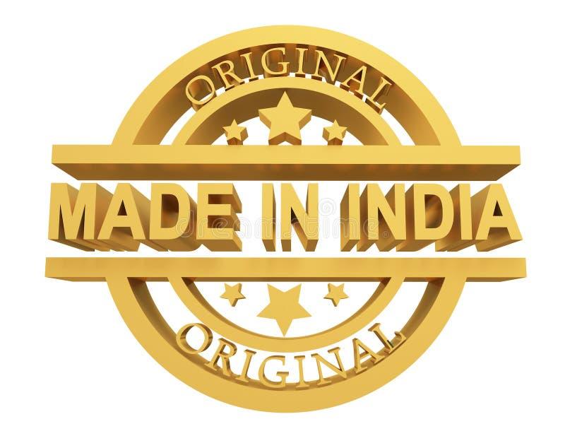 Κατασκευασμένος στην Ινδία, τρισδιάστατη απεικόνιση ελεύθερη απεικόνιση δικαιώματος