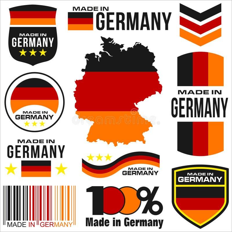 Κατασκευασμένος στη Γερμανία διανυσματική απεικόνιση