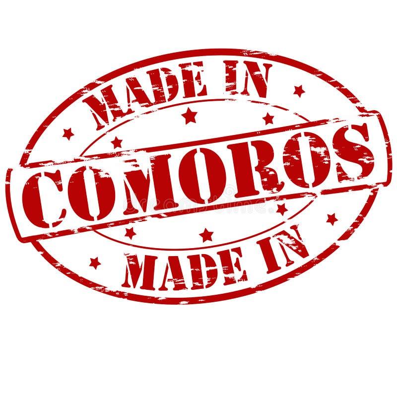 Κατασκευασμένος στις Κομόρες ελεύθερη απεικόνιση δικαιώματος