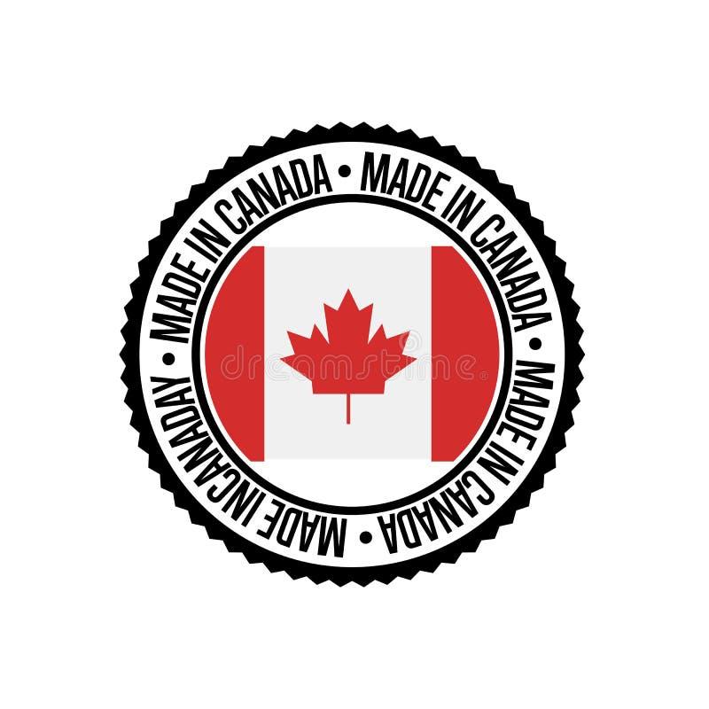 Κατασκευασμένος στον Καναδά γύρω από τη σφραγίδα για τα προϊόντα απεικόνιση αποθεμάτων