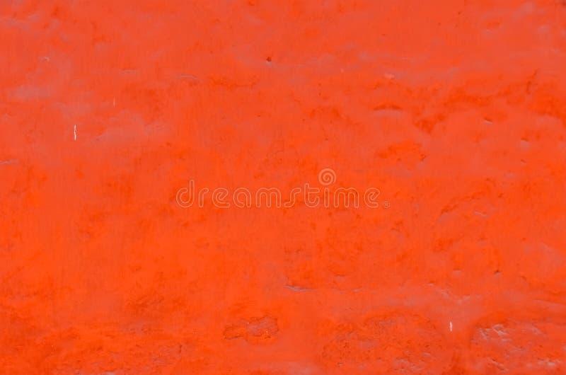 Κατασκευασμένος τοίχος, φωτεινό πορτοκαλί χρώμα στοκ εικόνα