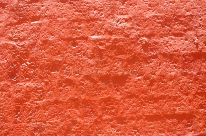 Κατασκευασμένος τοίχος, φωτεινό πορτοκαλί χρώμα στοκ φωτογραφία με δικαίωμα ελεύθερης χρήσης