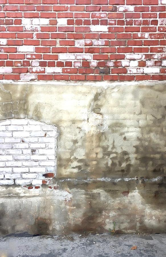 Κατασκευασμένος τουβλότοιχος σε Berkeleley, Καλιφόρνια στοκ φωτογραφίες