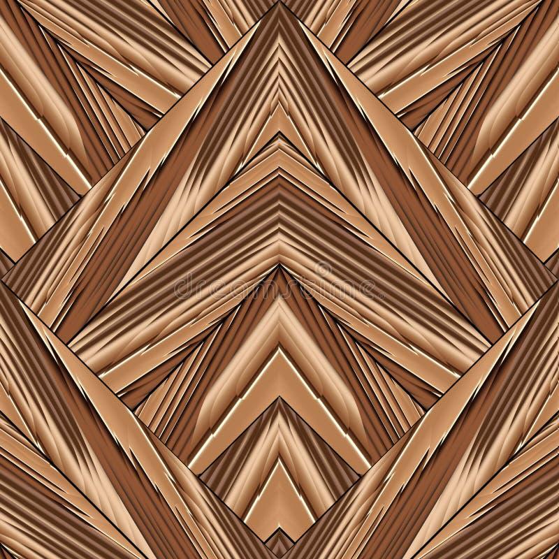 Κατασκευασμένο γεωμετρικό διανυσματικό άνευ ραφής σχέδιο Ριγωτό σύγχρονο backg απεικόνιση αποθεμάτων