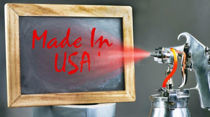 Κατασκευασμένο στις ΗΠΑ στοκ εικόνα