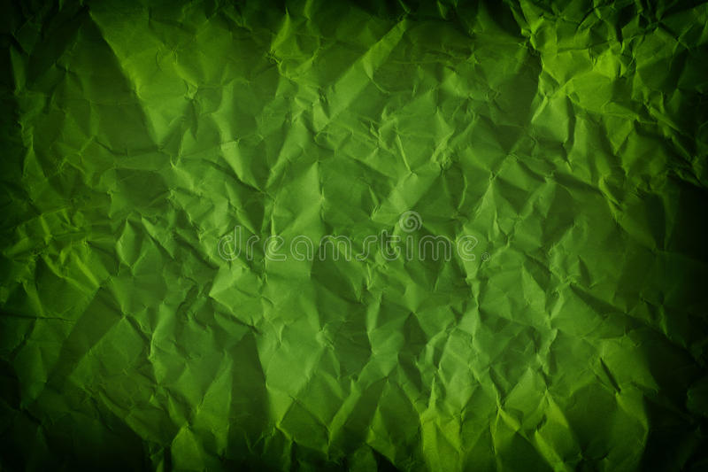 Κατασκευασμένο, τσαλακωμένο πράσινο υπόβαθρο στοκ εικόνες