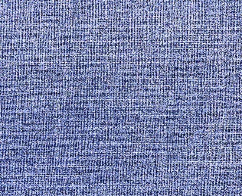 Κατασκευασμένο υπόβαθρο του μπλε φυσικού υφάσματος στοκ εικόνες