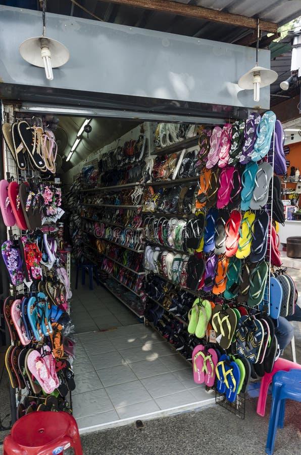 Καταστήματα και καταστήματα beachwear του Ταϊλανδού στοκ φωτογραφία