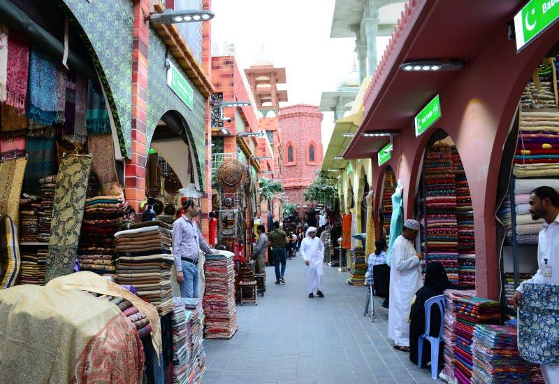 Καταστήματα πόλεων του Πακιστάν στο σφαιρικό χωριό Ντουμπάι στοκ εικόνα με δικαίωμα ελεύθερης χρήσης
