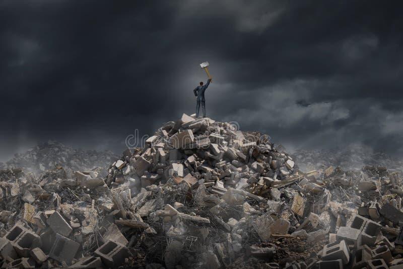 Καταστρέψτε και κατεδαφίστε ελεύθερη απεικόνιση δικαιώματος