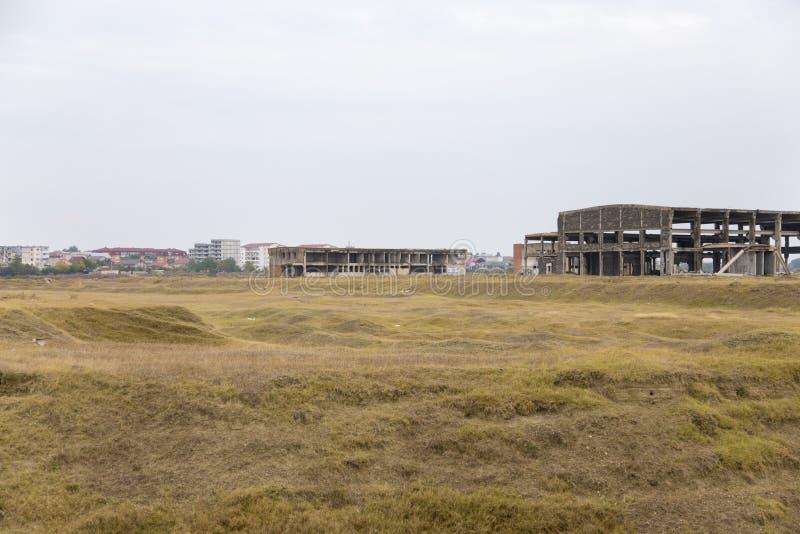 Καταστροφές εργοστασίων στην άκρη της πόλης Calarasi, στοκ φωτογραφίες με δικαίωμα ελεύθερης χρήσης