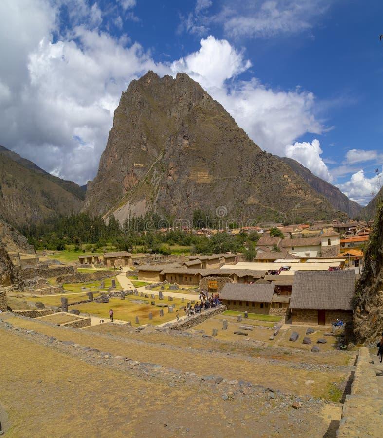 Καταστροφές και πεζούλια Inca Ollantaytambo - Ollantaytambo, ιερή κοιλάδα, Περού στοκ φωτογραφίες