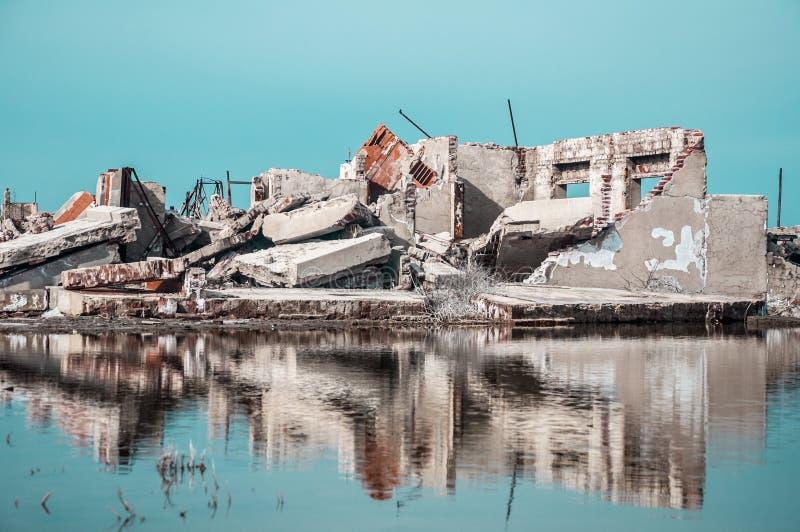 Καταστροφές μιας πόλης που ήταν πλημμυρισμένη στοκ φωτογραφία με δικαίωμα ελεύθερης χρήσης