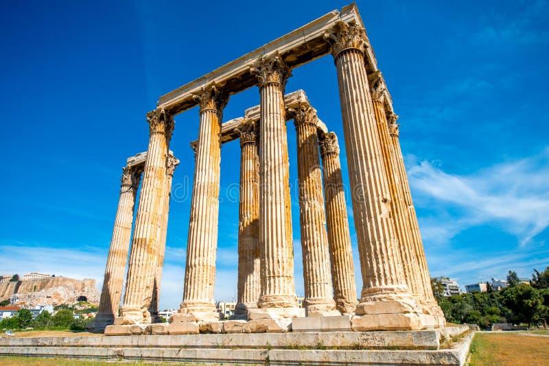 Καταστροφές ναών Zeus στην Αθήνα στοκ φωτογραφίες με δικαίωμα ελεύθερης χρήσης