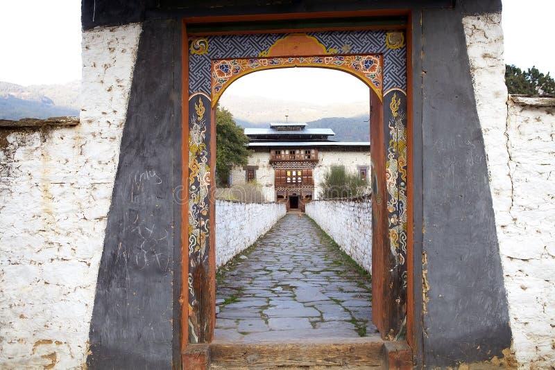 Καταστροφές παλατιών Wangduechhoeling, Bumthang, Μπουτάν στοκ εικόνες με δικαίωμα ελεύθερης χρήσης