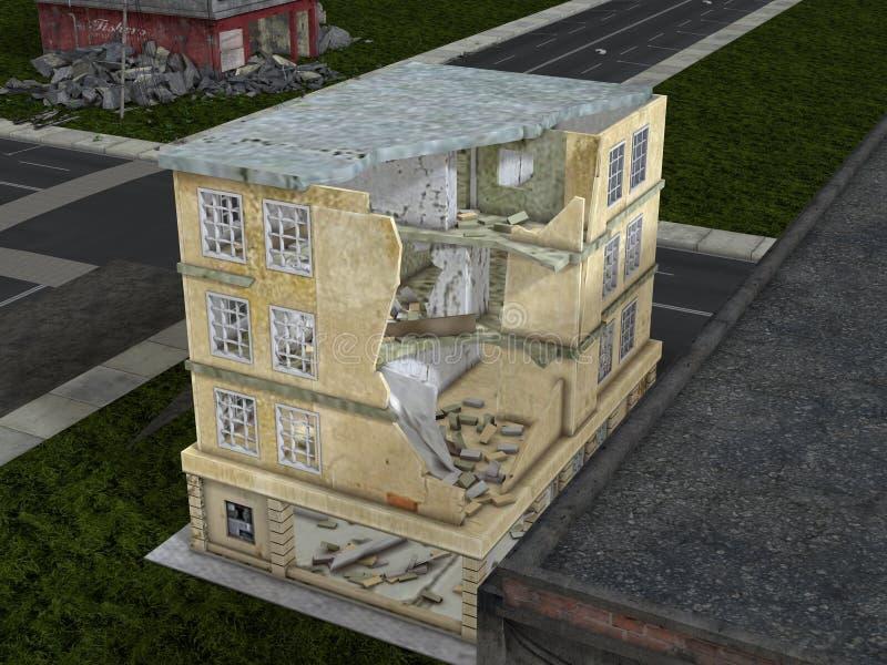 Καταστροφές πόλεων στοκ φωτογραφίες