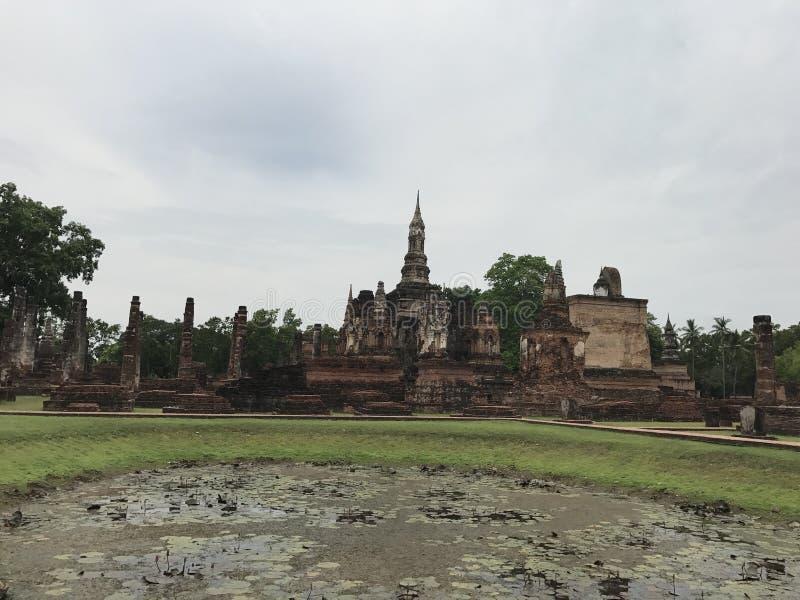 Καταστροφές σε Sukhothai Ταϊλάνδη στοκ φωτογραφίες