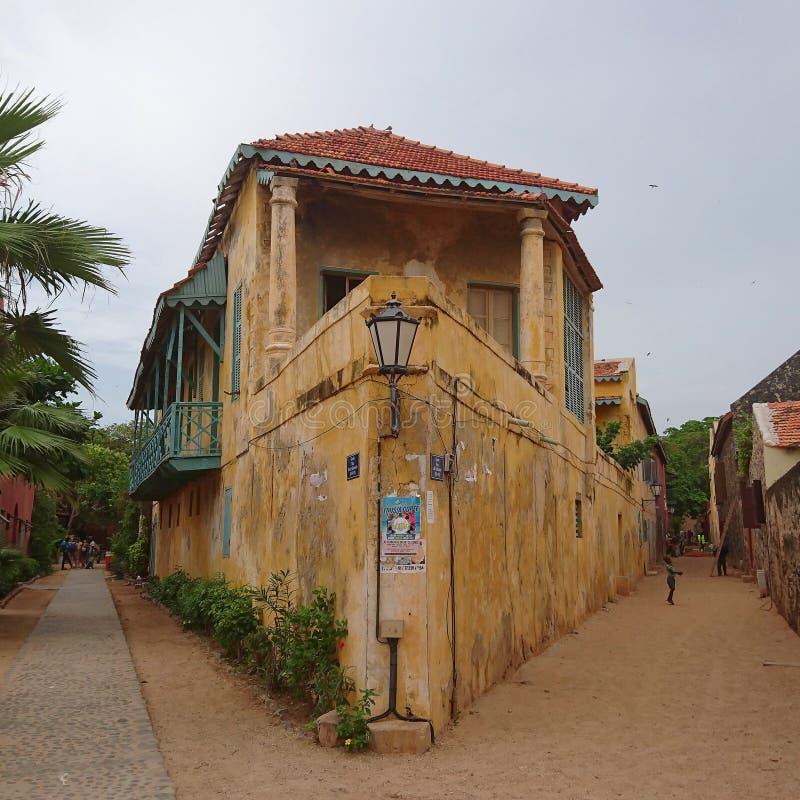 Καταστροφές στο νησί Goree στη Σενεγάλη στοκ εικόνες