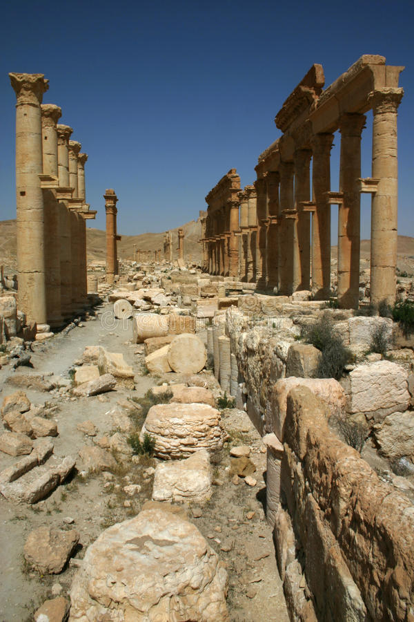 καταστροφές Συρία palmyra στοκ εικόνες