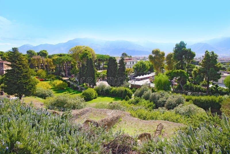 Καταστροφές της αρχαίας Πομπηίας στοκ εικόνα με δικαίωμα ελεύθερης χρήσης